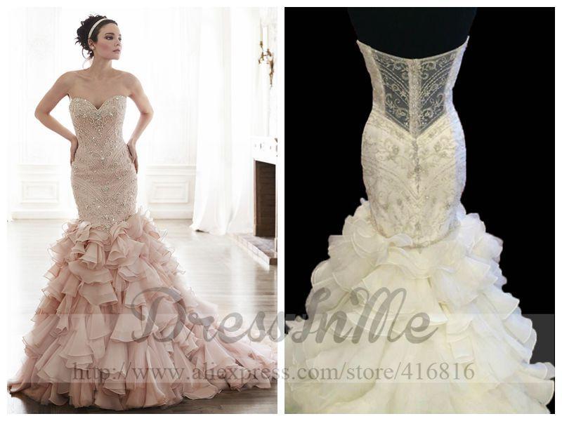 Online Buy Wholesale blush mermaid wedding dress from China blush ...