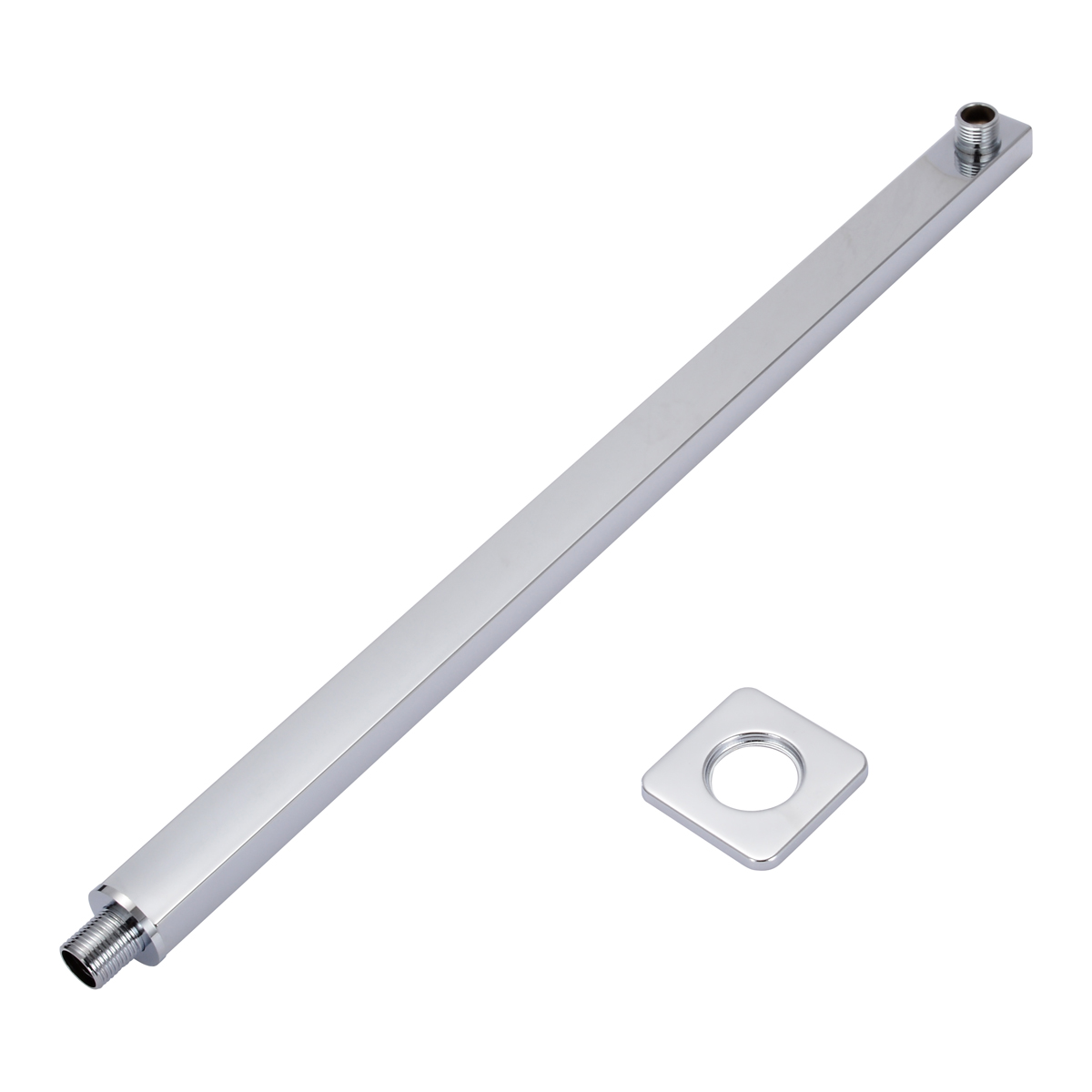 60cm 24 Inch Wall Mounted Chrome Shower Arm Silver Square Shower Extension Arms For Rain Shower Head Bathroom Shower Accessories