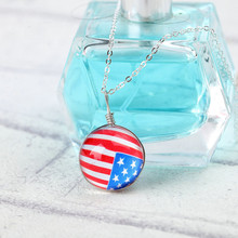 Hot Fashion Crystal glass Ball Clover Necklace Long Strip Alloy Chain Pendant Necklaces Women 2016 Jewelry
