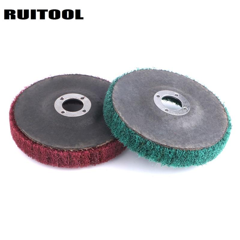 RUITOOL 120/240 Grit Nylon Polishing Wheels 100*16mm Grinding Wheel For Metal Grinder Polishing Disc Dremel Accessories