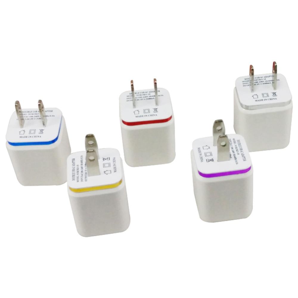 USB Plug Dual 2 USB USB شارژر تلفن شارژر تلفن - لوازم جانبی و قطعات تلفن همراه