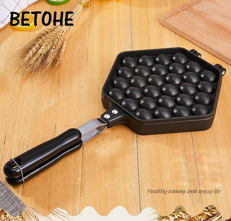 BETOHE QQ oeuf bulle gâteau cuisson moule fer aluminium Hongkong gaufrier moule revêtement antiadhésif bricolage Muffins plaque