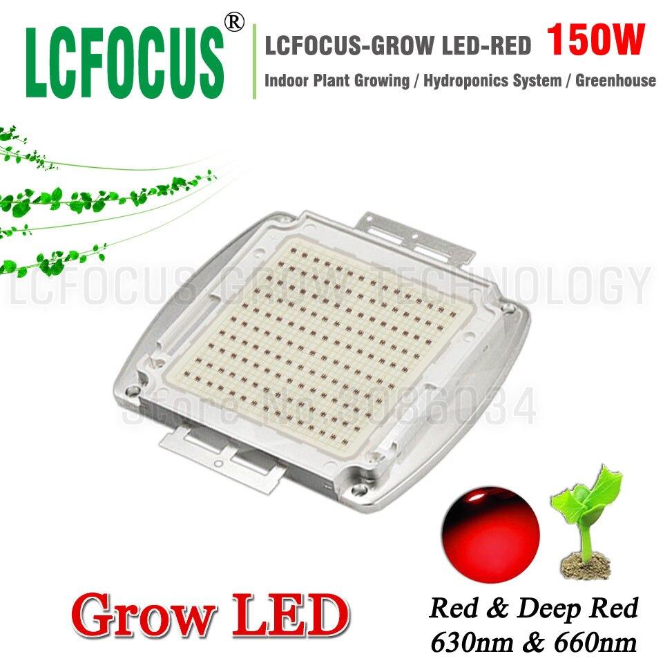 Tente hydroponique de croissance de plante de l'épi 660nm 630nm de Diode rouge profond de la puissance puce LED 150 W pour le bricolage LED de 150 watts élèvent l'ampoule de lampe