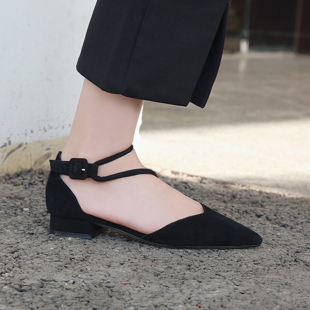 Bimolter High Quality Sheep Suede Flats Slim Sexy Pointed toe Flats Shoes Women Flat Heel Fashion Womens Brand Shoes LFSB012 in Women 39 s Flats from Shoes