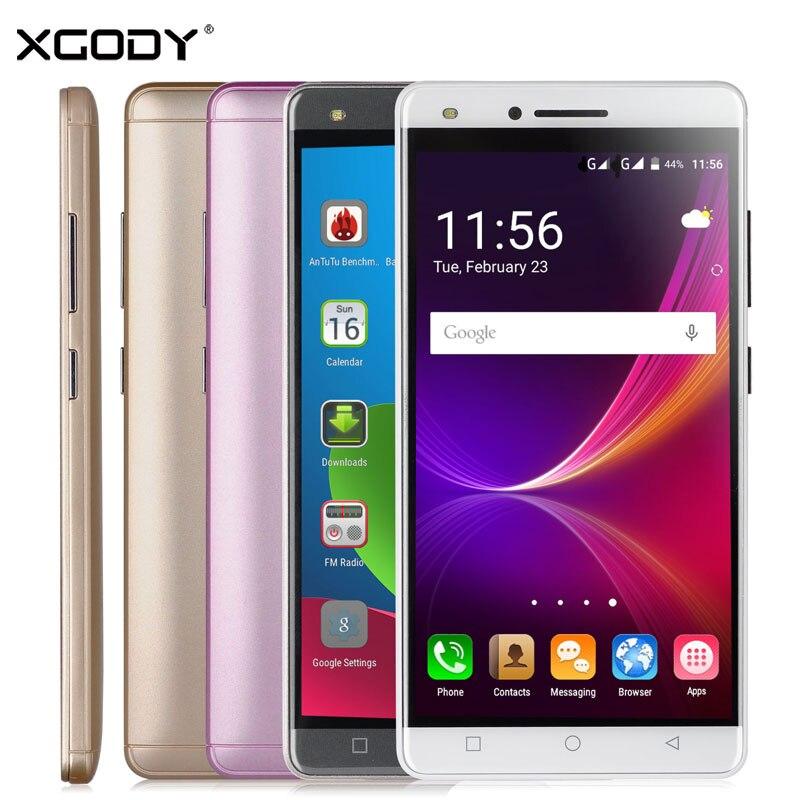 XGODY 5 Smartphone 1GB RAM 8GB ROM Android 5.1 Quad Core Dual Sim Cards Touchscreen Celular WCDMA 3G Unlock Cheap Cell Phones