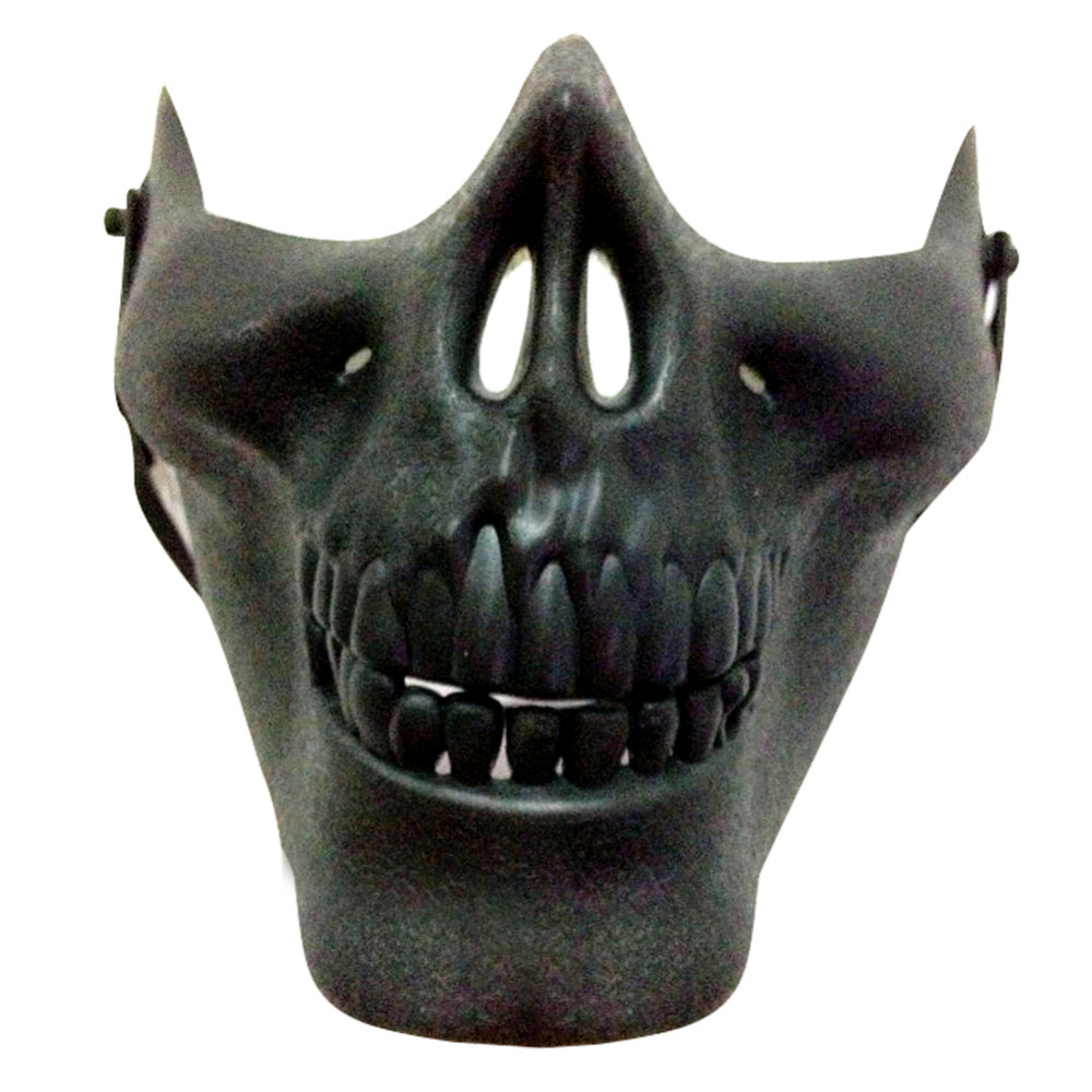 Carnival Gift Scary Skull Skeleton Paintball Lower Half Face ...