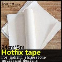 PVC Plastic 24cm X 5 Meters With PET Glue Good Quality Hotfix Transfer Paper Rhinestone Tape