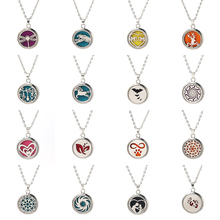 16 styles Magnetic Aromatherapy Necklace Jewelry Perfume Locket Pendant Essential Oil Diffuser Women charm necklace Dropshipping