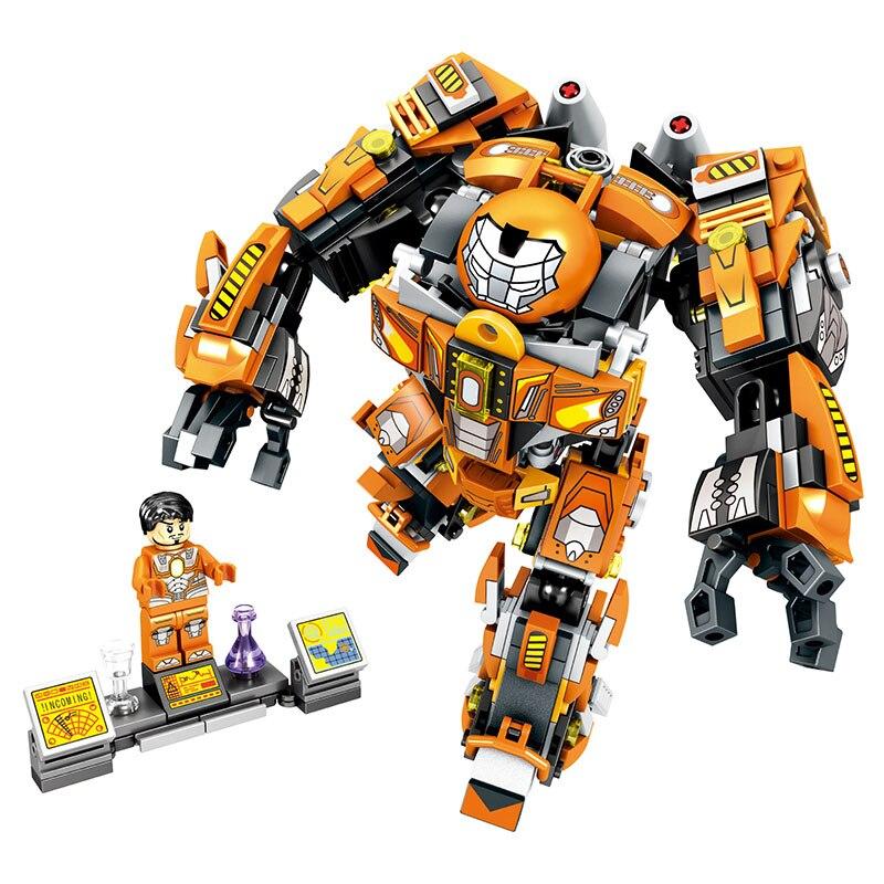 SEMBO Steel Mech MK36 2 IN 1 Marvel Super Hero Series Building Blocks Figures Bricks Toys for Children gift in Blocks from Toys Hobbies