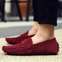 Plus Size Loafers Men Flat Fashion Mocassin Homme Shoes Leather Spring Slip on Driving Formal Shoes Sapato Masculino
