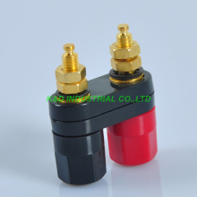 4Pairs Combine Binding Post 3026 Amplifier Terminal Banana Plug Jack Red + Black 4pairs combine binding post speaker tube audio terminal banana plug jack amplifie hifi