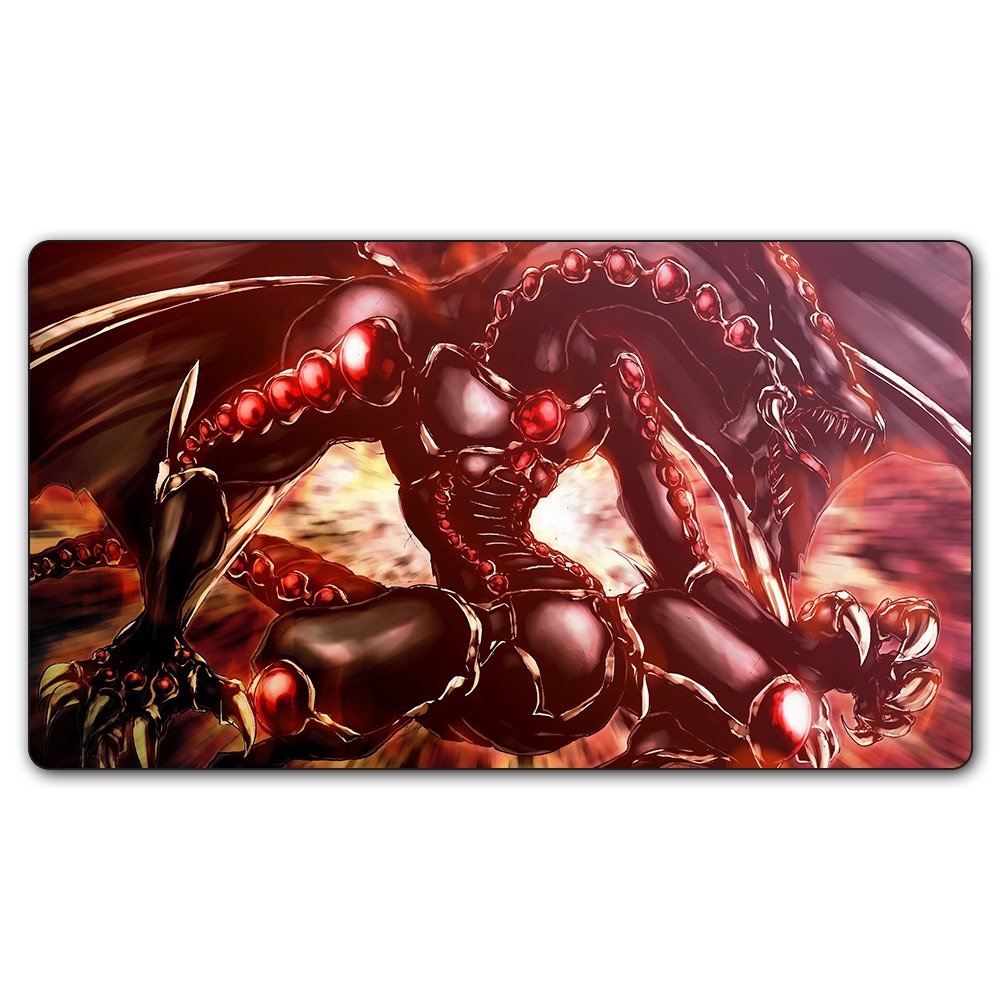 (#56 YGO Playmat) 14x24 Inches YU-GI-OH Red Eye Dragon Play Mat Board Games YuGiOh Card Games MGT Table Pad with Free Gift Bag