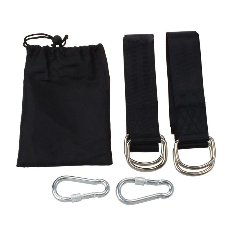 Tree Swing Hanging Kit, Two 59 Inch Tree Straps With Safer Lock Snap Carabiner Hooks, Perfect For Tree Swing & Hammocks & Disc
