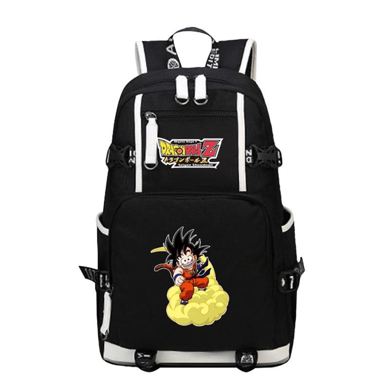 cca1cf494c Harajuku Hot Anime DRAGON BALL Son Goku Stampa Su Tela Zaino Del Computer  Portatile di Modo