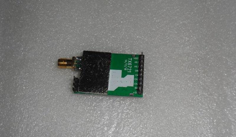 Transmitter Module Small Size 2.4G 500mw Wireless Audio Video Transmission TX6721 Launch Module