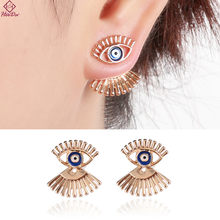 Heeda Kpop Unqiue Alloy Eye Ear Nail for Women Personality Punk Lady Stud Earrings 2018 New Ear Decoration Valentines Day Gifts(China)