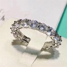 SONA, имитация драгоценных камней Бесконечность серебряного цвета свадебные кольца для женщин, твердые обручальные кольца