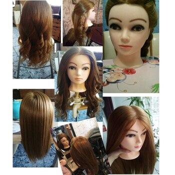 Szkolenia Głowy Na Salonie 60 Prawdziwe Ludzkie Włosy Fryzjerstwo Manekin Lalki Fryzury Profesjonalna Głowa Do Stylizacji Może Być Zwinięta Do Włosów