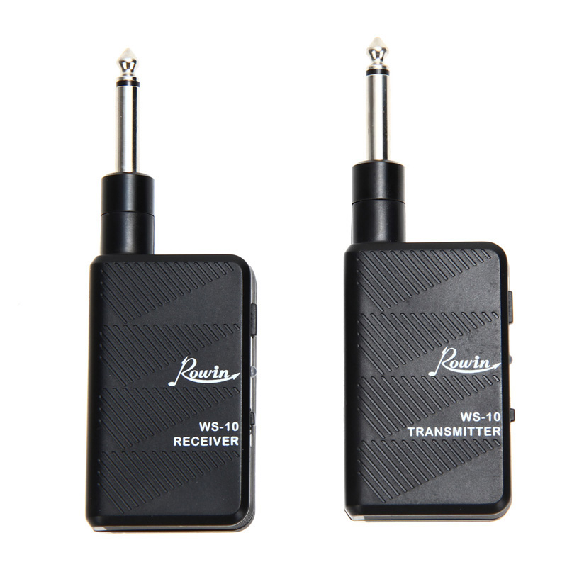 ФОТО Professional 2.4Ghz Rowin DIGITAL Guitar Bass Wireless Audio Transmitter Receiver Kit High Quality Musical Instruments Tool