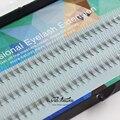 2016 nueva seda de pestañas 0.07 C Rizo Extensión de Pestañas de Visón Individuales 3D Suave Negro Falso falso Pestañas Pestañas