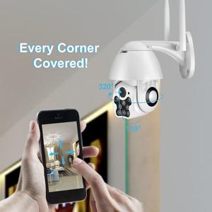 Image 3 - كاميرا بيضاء تعمل بالأشعة تحت الحمراء تعمل بالواي فاي كاميرا IP للأماكن الخارجية/الإمالة بسرعة 1080p كاميرا مراقبة CCTV مزودة بخاصية التكبير الرقمي ثنائي الاتجاه 4X
