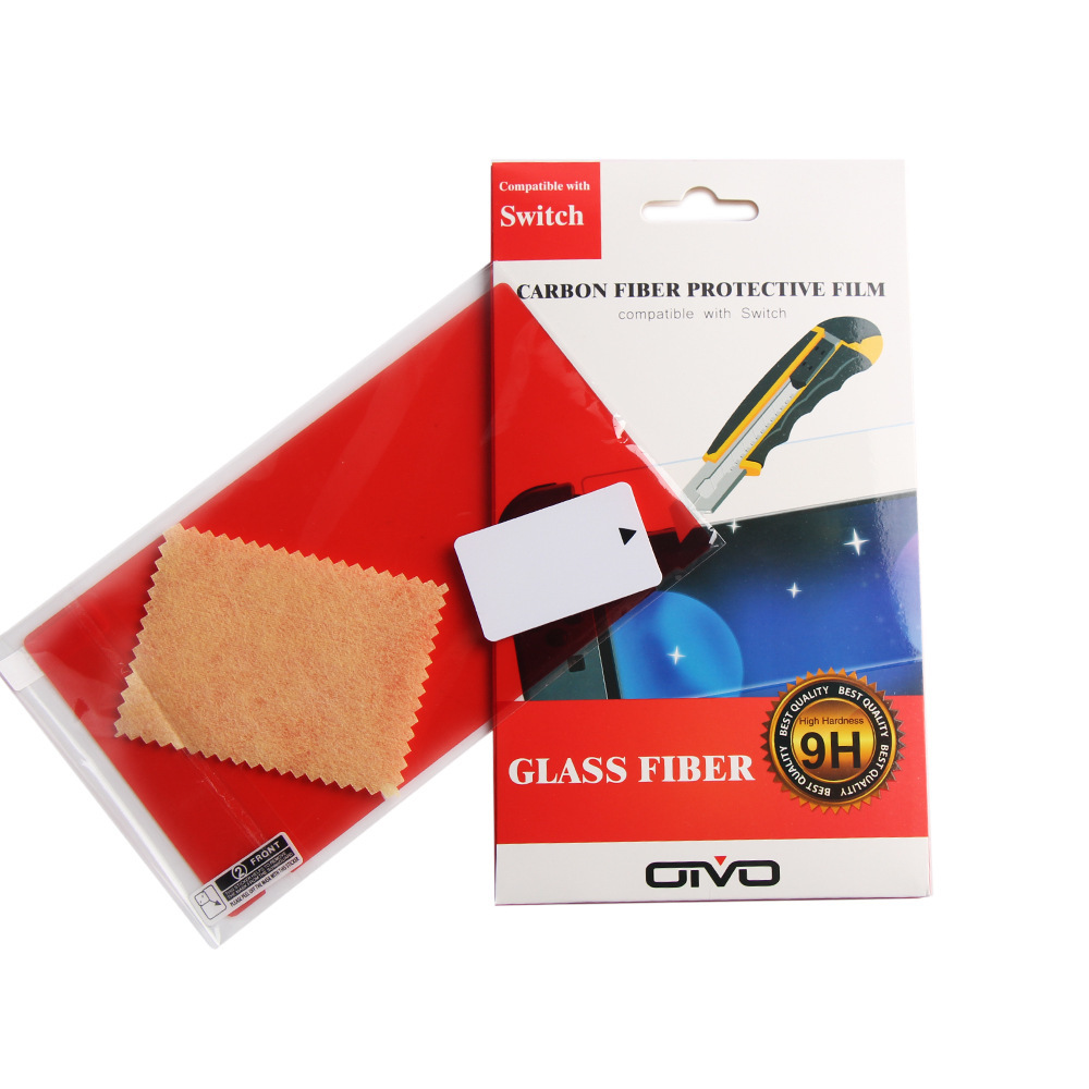 Carbon fiber Protective film For ns switch scratch-resistant film red film NS game Console protective film Glass Fibber