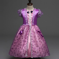 High Quality Girls Party Dresses Kids Summer Princess Dresses For Girls Rapunzel Belle Cosplay Costume Wedding