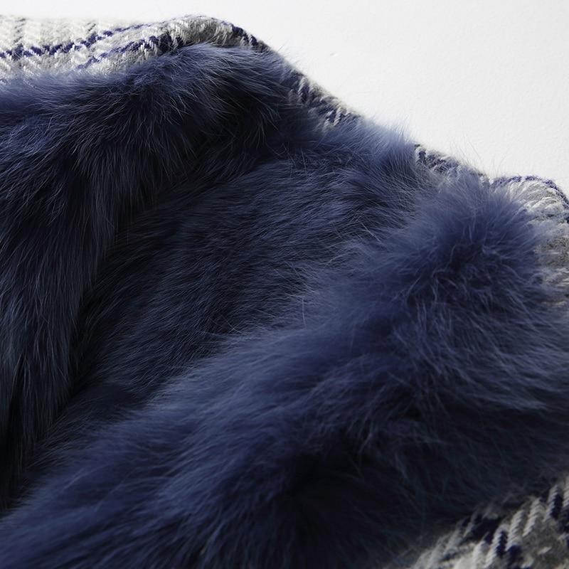 Réel Mode Vêtements La Naturel Livraison 90315a De Fourrure Renard Femmes Blue Portant côté Hiver Chaud Prussian Manteau Épais Féminins 2 Gratuite rZqfnzr