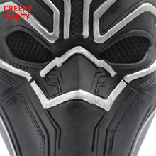 Realistic Latex Halloween Black Panther Movie Mask