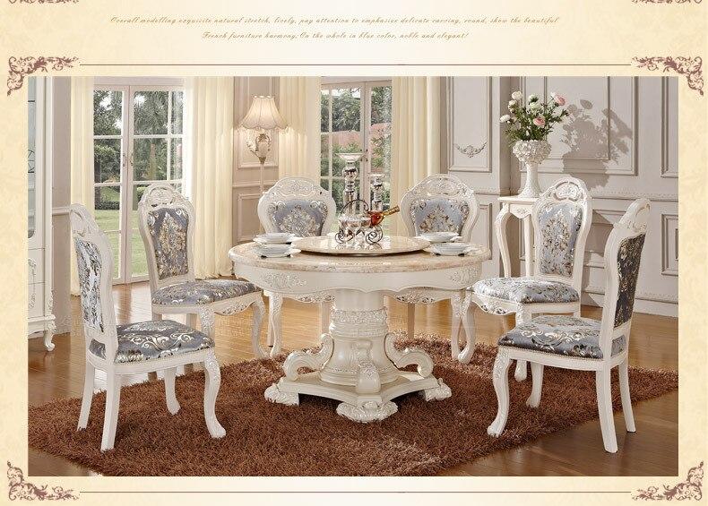 Witte Klassieke Eettafel.Us 3280 0 Luxe Houten Ding Tafel En Stoel Witte Kleur Eetkamer Sets Klassieke Eettafel Eetkamer Meubels In Eetkamer Sets Van Meubilair Op