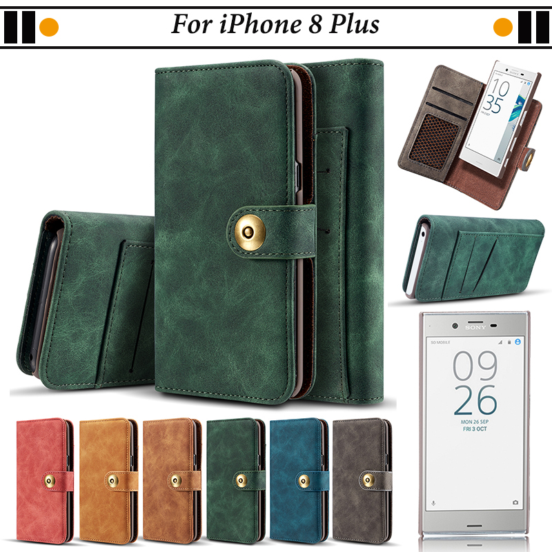 reputable site 4ae51 3fe5a US $9.44 |JURCHEN Phone Case For iPhone 8 Plus Case PU Leather Flip Cover  For Coque iPhone 8 Plus Case For iPone 8 Plus Wallet Case Capa-in Flip  Cases ...
