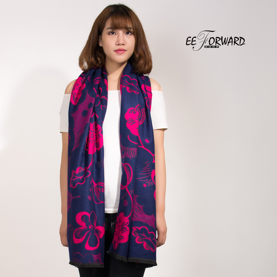 2017 News Scarf Autumn Winter Women Wool Floral High Quality Casual Fashion Scarves Suave Shawls Mujer Bandana Sjaal Pashmina