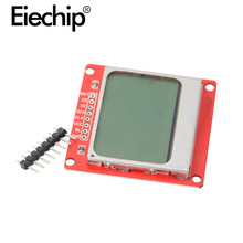 LCD TFT Display Module Monitor White Backlight Adapter PCB 84*48 84x48 for Nokia 5110 Screen Dot Matrix Digital For Arduino(China)