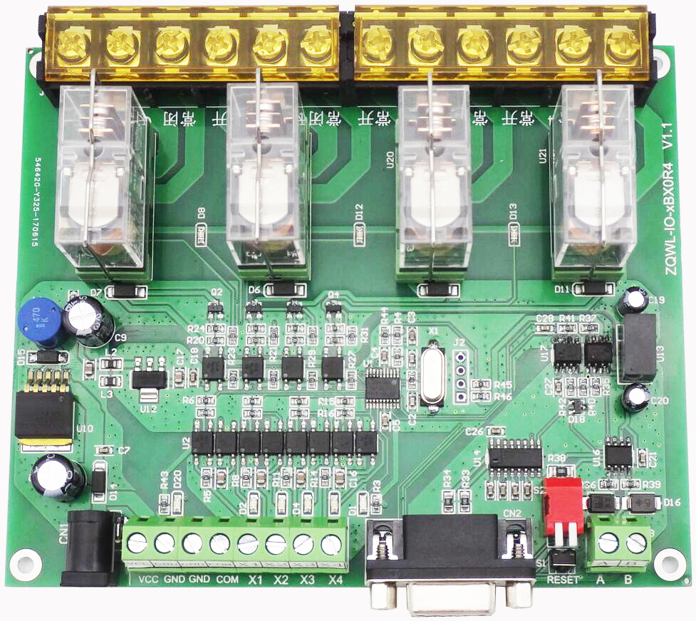 4-Channel Way Relay Control Board 16A RS485 RS232 Programmable Strip Isolation Industrial Grade