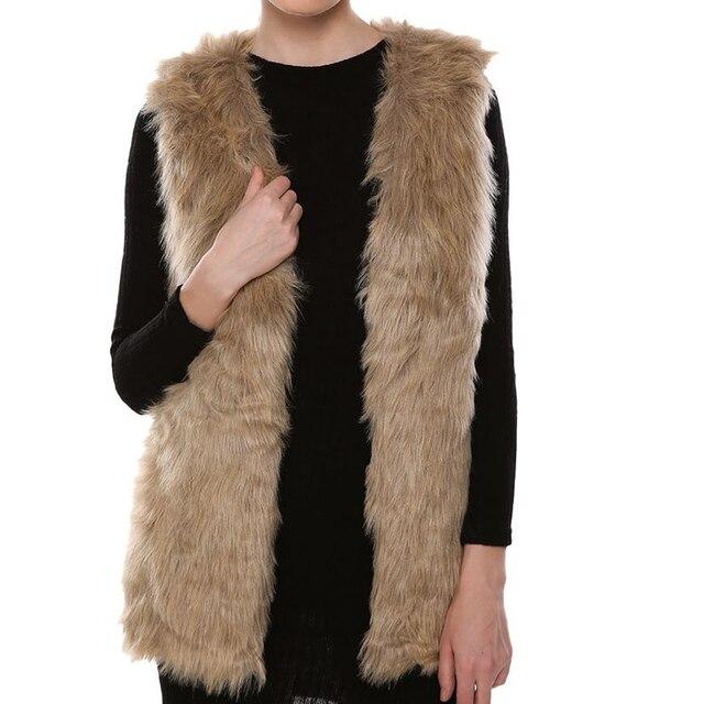 Lady mulheres Inverno Quente Faux Fur Vest Feminino Coletes Quentes Outwear Jaquetas Chalecos De Pelo Mujer Femme Veste Colete Feminino