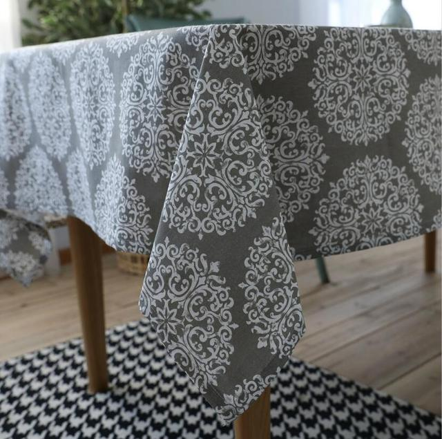 Countryside Square Tablecloths Linen Cotton Grey Party Table Cover Modern  Table Cloth Tecido Para Toalha De
