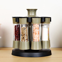 8PCS Multifunction Rotary Storage Box Spice Seasoning Box Kitchen Practical Spices Condiment