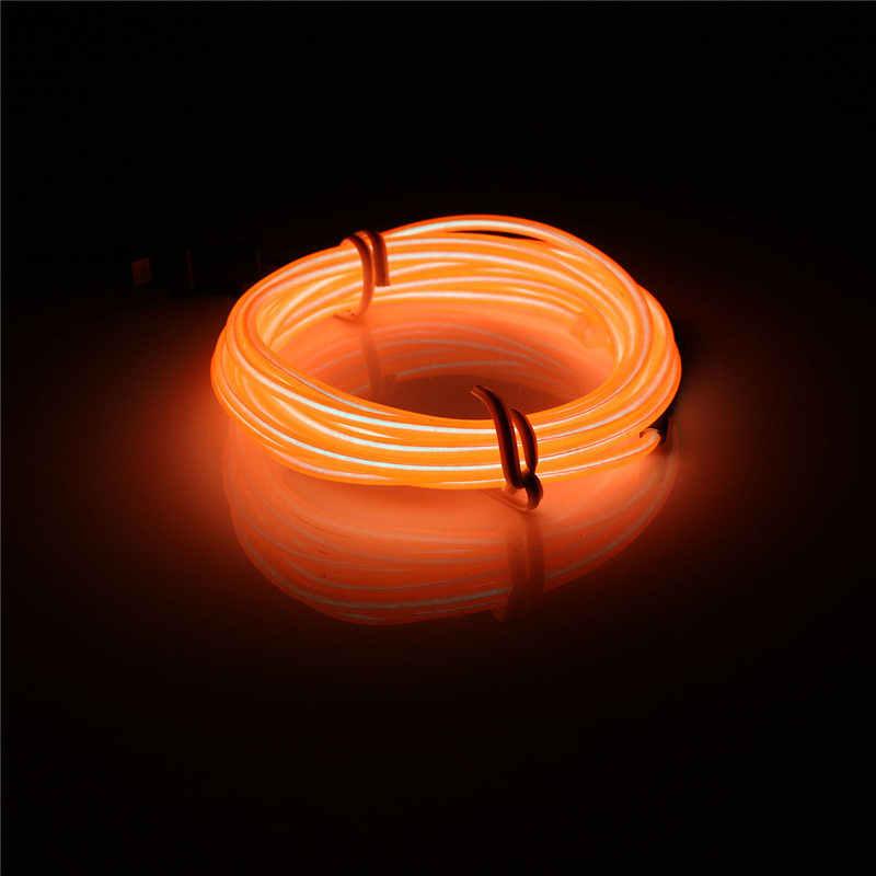 2 м EL мягкие трубки полосы неоновая проволока для дома Авто украшения сгибаемый гибкий вечерние события Deco EL светящаяся веревка