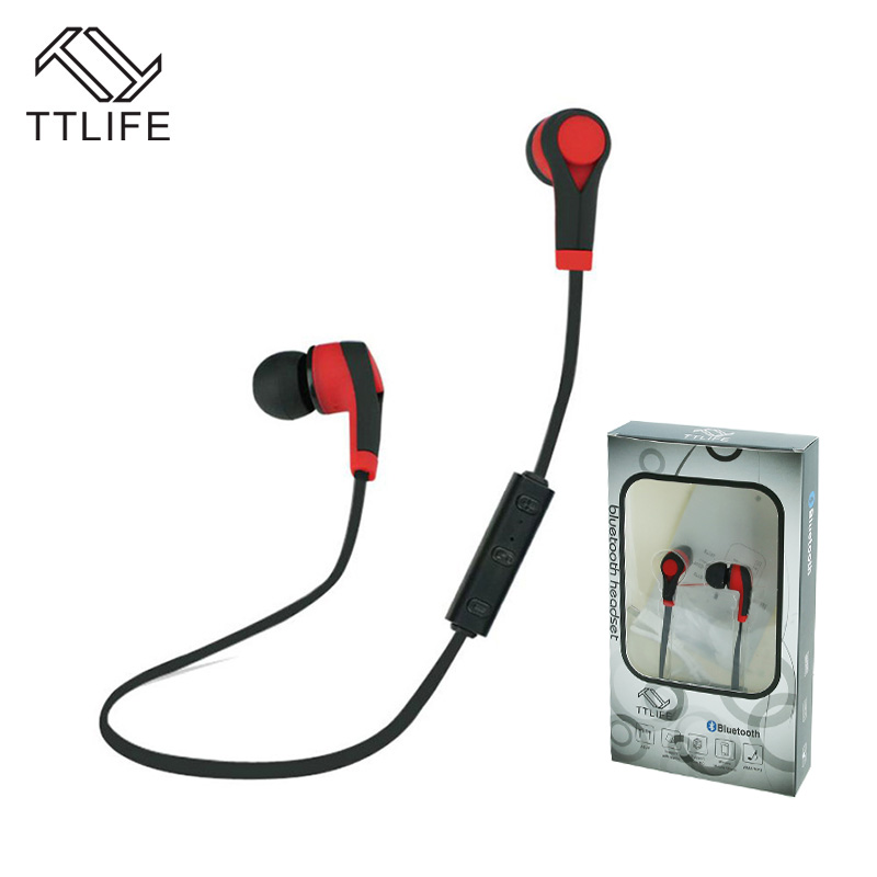 Buy 2 Get 1$ Down ! TTLIFE Bluetooth 4.1 Wireless Headphone Earphone Earpiece Running Sport Earbuds Headset with Mic Auriculares