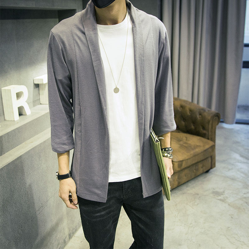 long cardigan men 2015 autumn new mens cardigans casual male ...