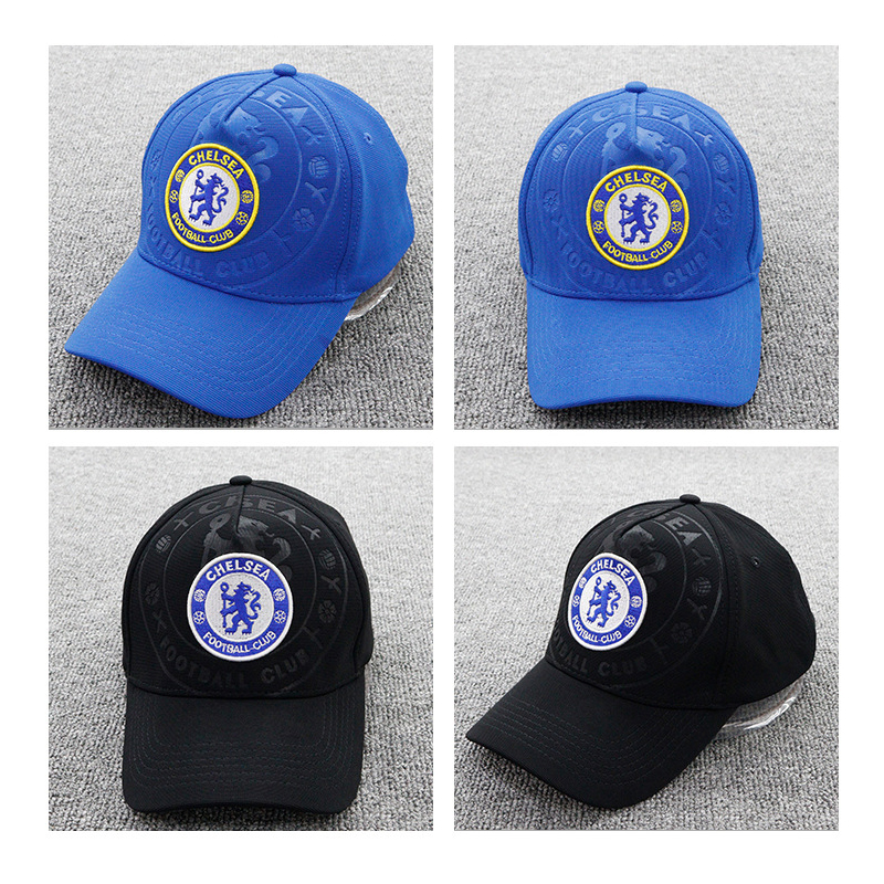 Unisex 2019 Chelsea Soccer Club Sun Cool Hat Gold Embroidery Adjustable   Baseball     Caps