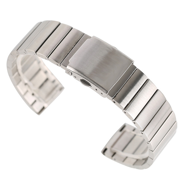 18/20/22/24mm Fashion Stainless Steel Wristwatch Band Adjustable Watch Straps Me