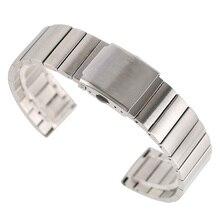 Bracelets de montre réglables, 18/20/22/24mm, mode, en acier inoxydable, Bracelet à maillons solides + 2 barres à ressort