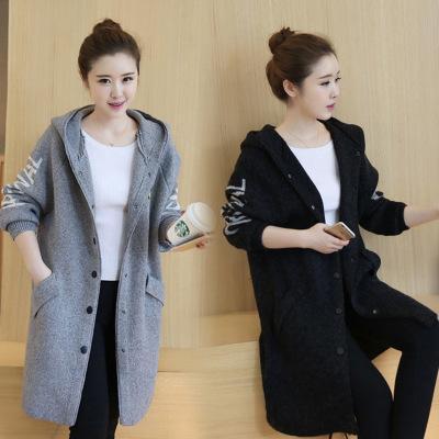 2016 осенью и зимой новые женские осенние пальто длинный вязаный кардиган куртки