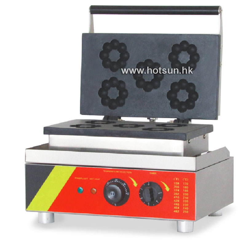 Free Shipping Commercial Non-stick 110V 220V Electric 5pcs Donut Doughnut Maker Baker Iron Machine 110v 220v automatic donut making machines with 3 mold free shipping