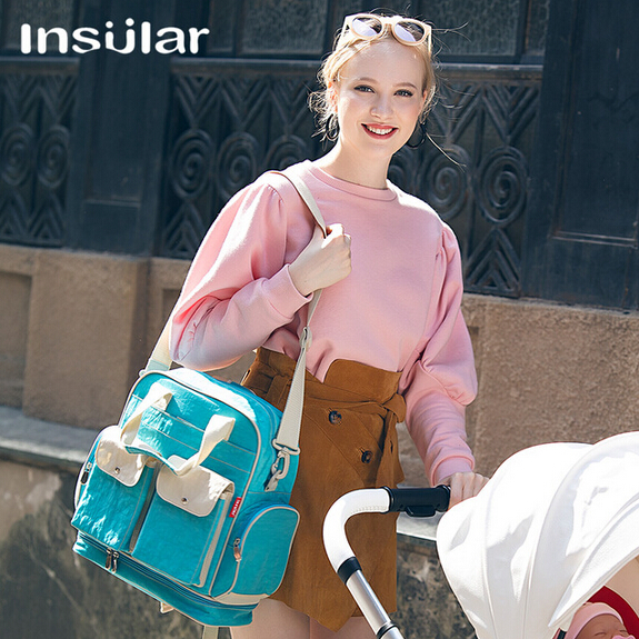 6 Colors Free Shipping Multi-function Solid Nappy Bags High-capacity Mummy Backpack Tote Waterproof Redelivery Baby Diaper Bags
