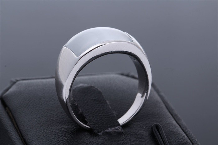 Large Rectangle Opal Cocktail Thumb Ring