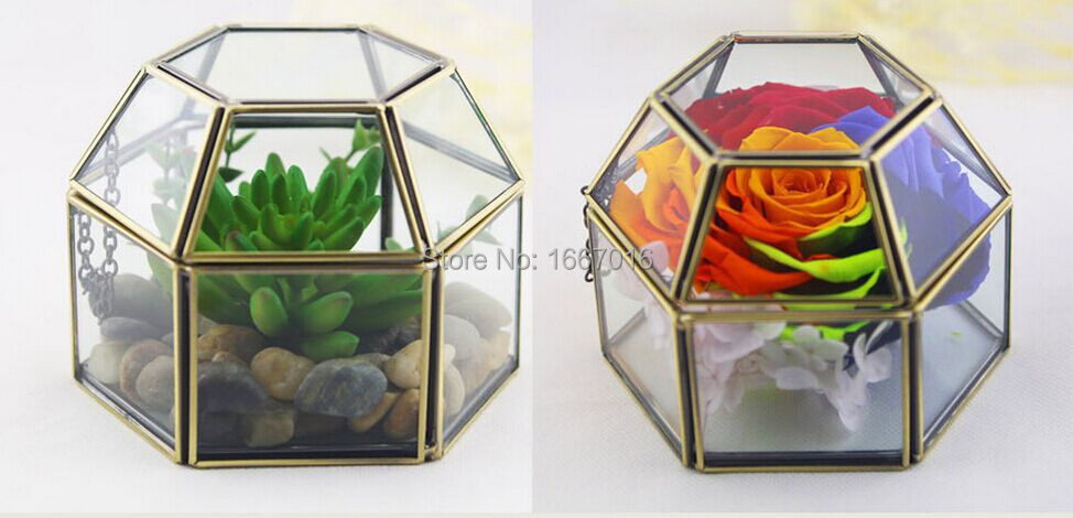 Good Glass Storage Box Score + Solder Glass Terrarium Succulent Glass Bronze  Flower Box Jewelry Box Wedding Decoration Flowerpots In Flower Pots U0026  Planters From ...