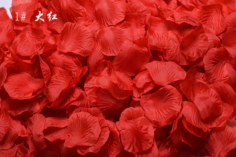 Wholesale Wedding Rose Petals 1000pcs/lot Decorations Flowers Polyester Wedding Rose New Fashion 2018 Artificia F1