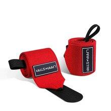 Levantamento de peso envoltórios de apoio ao pulso com alças elásticas do gym do laço do polegar para o treinamento de força crossfit powerlifting